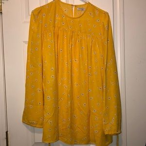 Nwot yellow floral tunic